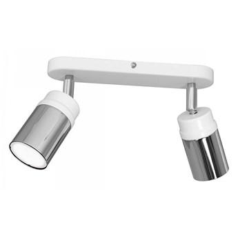 Oświetlenie punktowe NEST 2xGU10/8W/230V biały/chrom