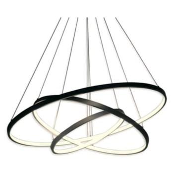 LED ring triple - żyrandol 70cm - potrójny pierścień LED