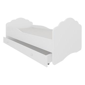 SELSEY Łóżko dziecięce Sissa 140x70 cm białe z szufladą