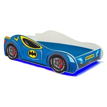 SELSEY Łóżko dziecięce Werio 160x80 cm w kształcie samochodu z LED