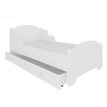 SELSEY Łóżko dziecięce Chadwi 160x80 cm białe z szufladą