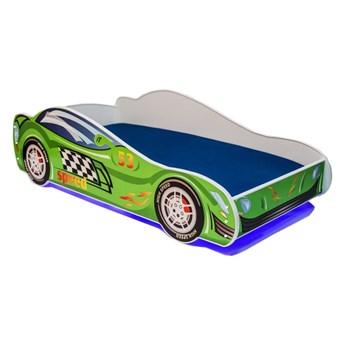 SELSEY Łóżko dziecięce Petuni 140x70 cm w kształcie samochodu z LED