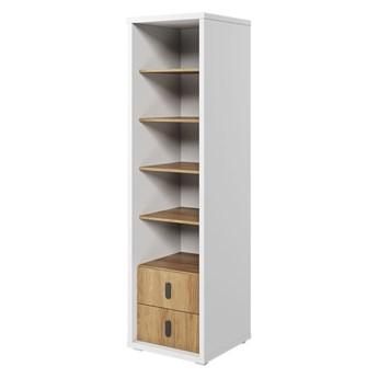 SELSEY Regał na książki Massi 200 cm z dwiema szufladami