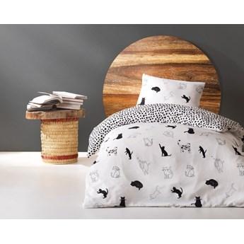 SELSEY Komplet pościeli Cats 160x220 cm z poszewką na poduszkę 50x70 cm i z prześcieradłem