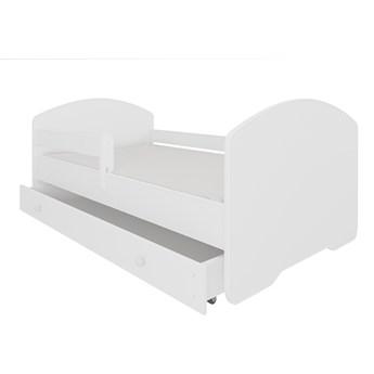 SELSEY Łóżko dziecięce Blasius 140x70 cm białe z barierką i szufladą