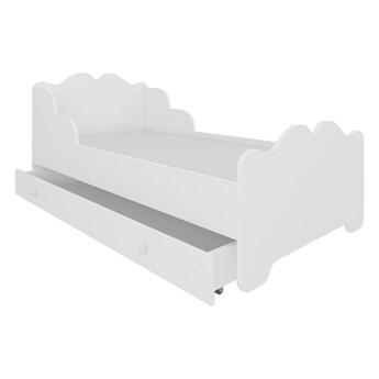 SELSEY Łóżko dziecięce Mermi 140x70 cm białe z szufladą