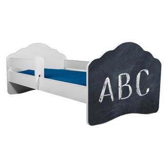 SELSEY Łóżko dziecięce Sissa 160x80 cm z napisem ABC z barierką