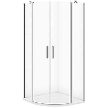 Kabina prysznicowa półokrągła MODUO 90x195 szkło transparentne