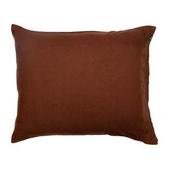 Komplet 2 szt brązowe poszewki na poduszkę pościel 50x60 Sunshine z lnu HIMLA