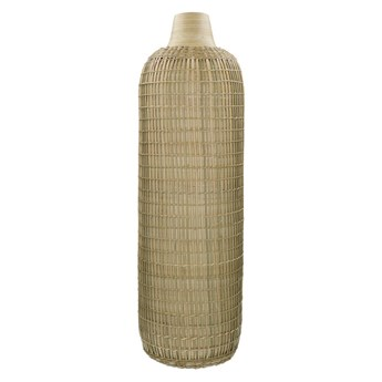 Duży dekoracyjny wazon Zarastro z bambusa i trawy morskiej POMAX