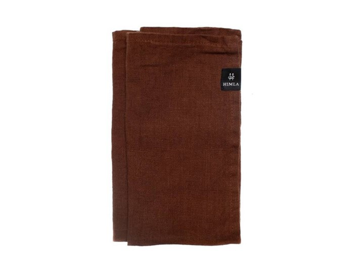 4-pak brązowe serwetki Sunshine z lnu 45x45 HIMLA Frotte 45x45 cm 70x140 cm Komplet ręczników Kategoria Ręczniki 160x160 cm Bawełna Kolor Brązowy