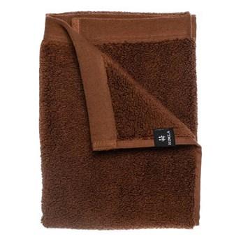 2-pak brązowe ręczniki 30x50 Maxime GOTS z bawełny organicznej HIMLA