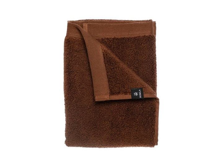 2-pak brązowe ręczniki Maxime GOTS z bawełny organicznej 50x70 HIMLA Frotte Bawełna 50x70 cm Komplet ręczników Kolor Brązowy