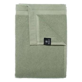 3-pak zielone Sage ręczniki 50x70 Lina OEKO-TEX z lnu i bawełny HIMLA