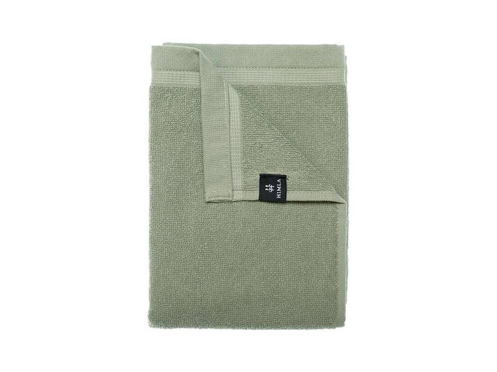 3-pak zielone Sage ręczniki Lina OEKO-TEX z lnu i bawełny 50x70 HIMLA 50x70 cm Kolor Zielony Frotte Komplet ręczników 50x100 cm Bawełna Kolor Czarny