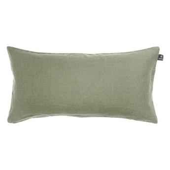 Podłużna zielona poduszka dekoracyjna 30x60 Sunshine z lnu HIMLA