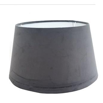 Abażur welurowy szary VELOUR 45 cm  na lampę stołową w stylu glamour