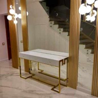 Toaletka Malmo złoto