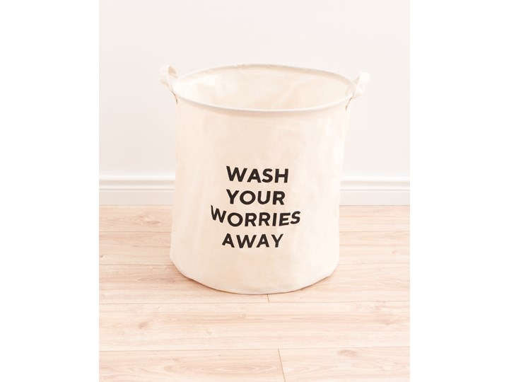 Sinsay - Kosz na pranie - Kremowy Kategoria Kolor Biały