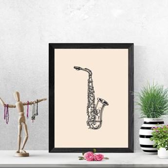 Plakat saksofon 084