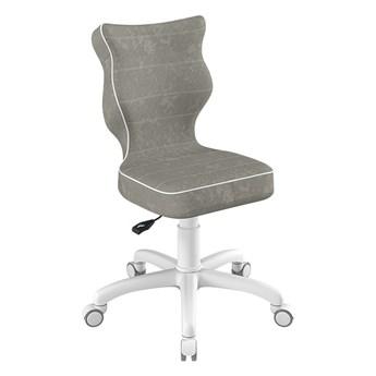 SELSEY Krzesło biurowe młodzieżowe Petit szare na białej podstawie rozmiar 4