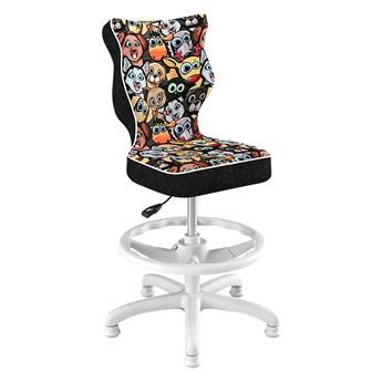 SELSEY Krzesło biurowe młodzieżowe Petit z motywem zwierząt na białej podstawie rozmiar 3 WK+P