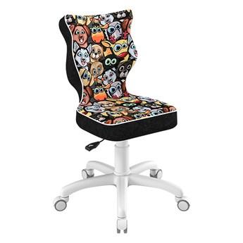 SELSEY Krzesło biurowe młodzieżowe Petit z motywem zwierząt na białej podstawie rozmiar 4