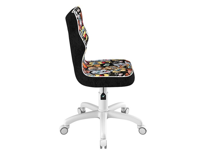 SELSEY Krzesło biurowe młodzieżowe Petit z motywem zwierząt na białej podstawie rozmiar 4 Szerokość 37 cm Tworzywo sztuczne Krzesło do biurka Szerokość 39 cm Tkanina Pomieszczenie Pokój nastolatka Tapicerowane Pomieszczenie Biuro i pracownia