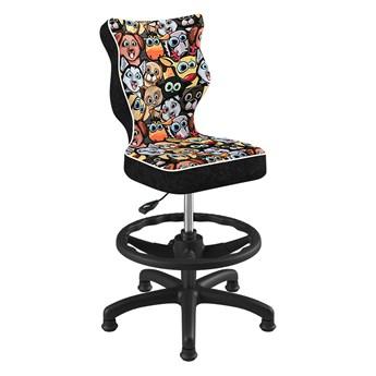SELSEY Krzesło biurowe młodzieżowe Petit z motywem zwierząt na czarnej podstawie rozmiar 4 WK+P