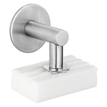 Magnetyczna mydelniczka ze stali nierdzewnej Wenko Turbo-Loc® Matte