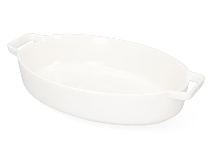 BAKER Naczynie do zapiekania białe 36x22 cm Kolor Biały Kategoria Naczynia do zapiekania
