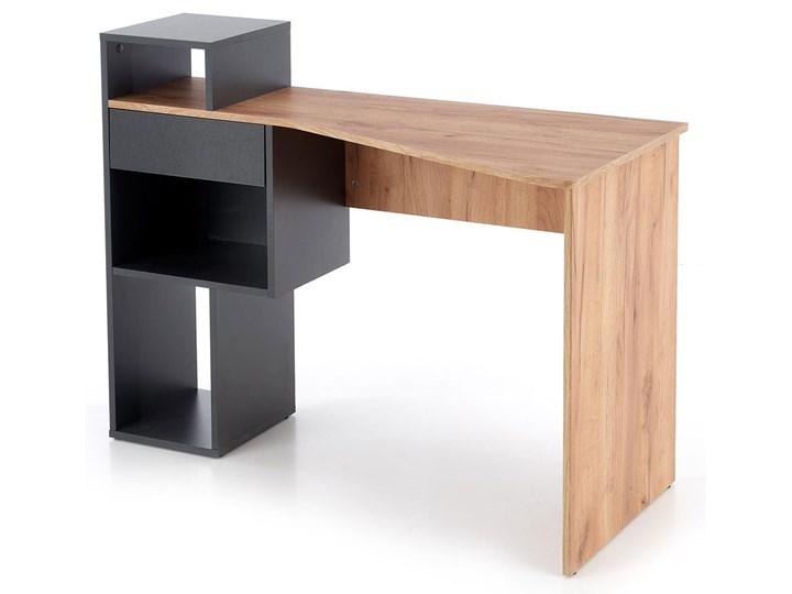 Nowoczesne biurko antracyt/dąb wotan - Lider