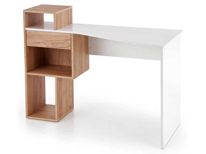 Designerskie biurko dąb złoty/biały - Lider