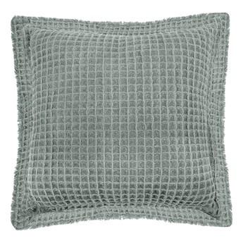 Zielona bawełniana poduszka dekoracyjna Tiseco Home Studio Waffle, 45x45 cm