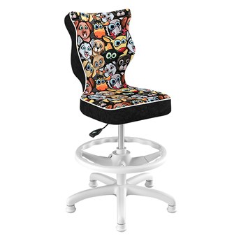 SELSEY Krzesło biurowe młodzieżowe Petit z motywem zwierząt na białej podstawie rozmiar 4 WK+P