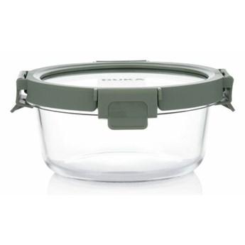 Pojemnik na żywność lunchbox okrągły DUKA IDEAL 650 ml zielony szkło