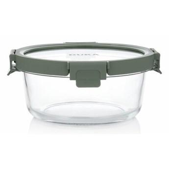 Pojemnik na żywność lunchbox okrągły DUKA IDEAL 900 ml zielony szkło