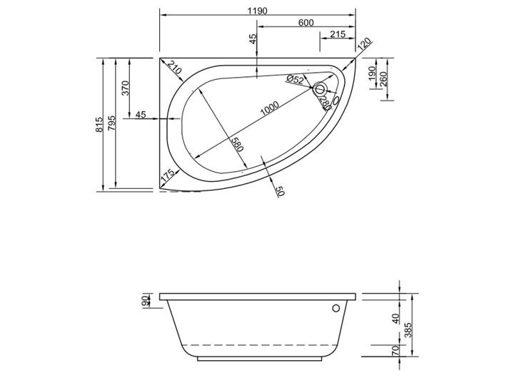 Wanna Ermia 120x80 Lewa Asymetryczne Akryl Kategoria Wanny