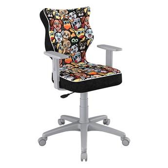 SELSEY Krzesło biurowe młodzieżowe Duo z motywem zwierząt na szarej podstawie rozmiar 5