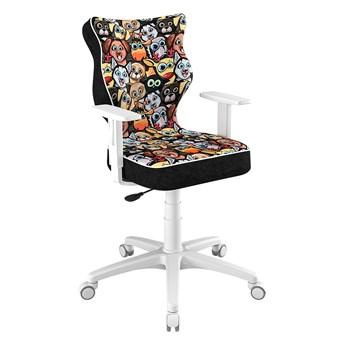 SELSEY Krzesło biurowe młodzieżowe Duo z motywem zwierząt na białej podstawie rozmiar 5