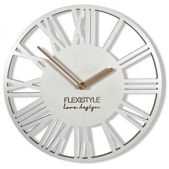 Biały zegar ścienny Loft Piccolo 30cm