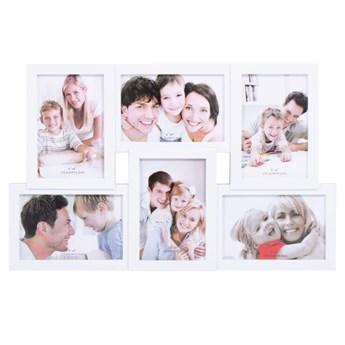 Ramka na zdjęcia 6 zdjęć multiramka 10x15 biała