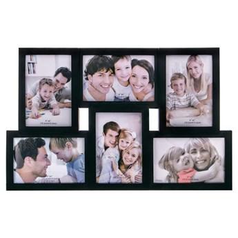Ramka na zdjęcia 6 zdjęć multiramka 10x15 czarna