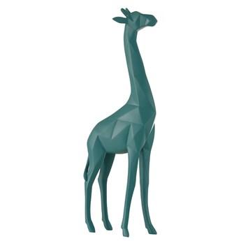 Figurka dekoracyjna Giraffe 13x39 cm niebieska