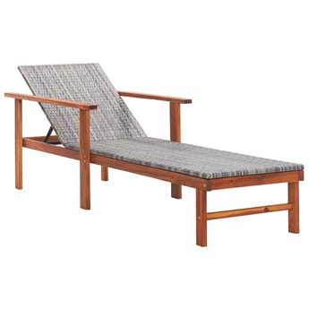 Drewniany leżak szary - Granti 3X