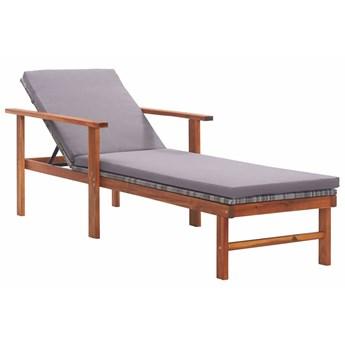Drewniany leżak szary - Granti 2X