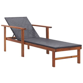 Drewniany leżak czarny - Granti 3X