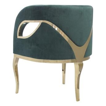 Fotel MORELLO  Glamur gold/darkgreen