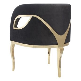 Fotel MORELLO  Glamur gold/black