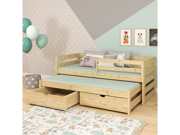 Łóżko pojedyncze z wysuwem KACPER wiele rozmiarów i kolorów Drewno Kategoria Łóżka dla dzieci